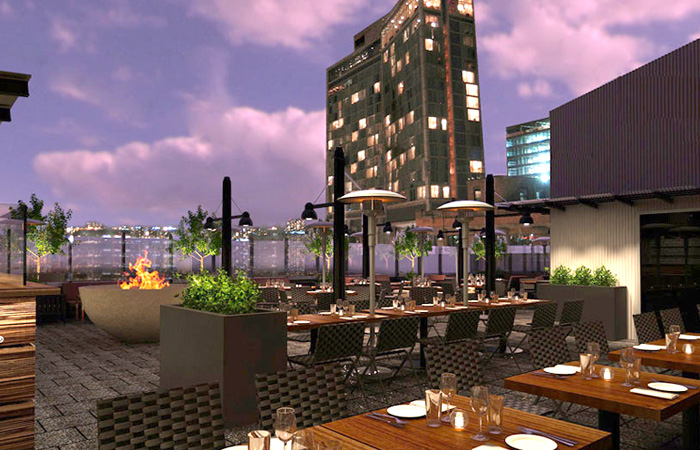 STK's rooftop patio.