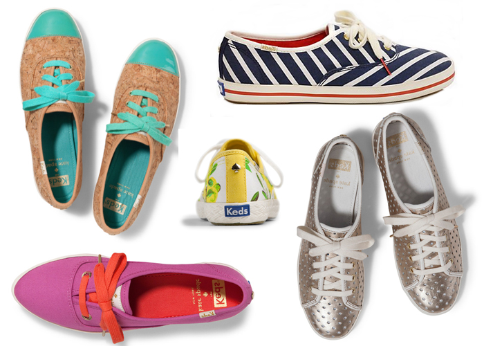 A selection of shoes from the Keds X Kate Spade Spring 2014 Collection.