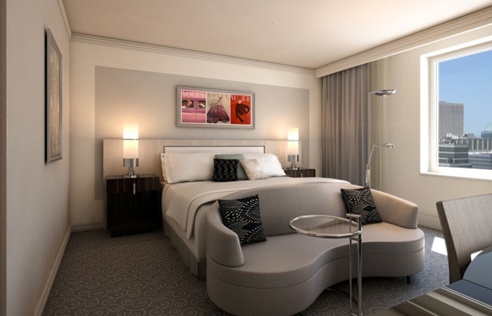 A luxury room at the Lowes Hotel Vogue.