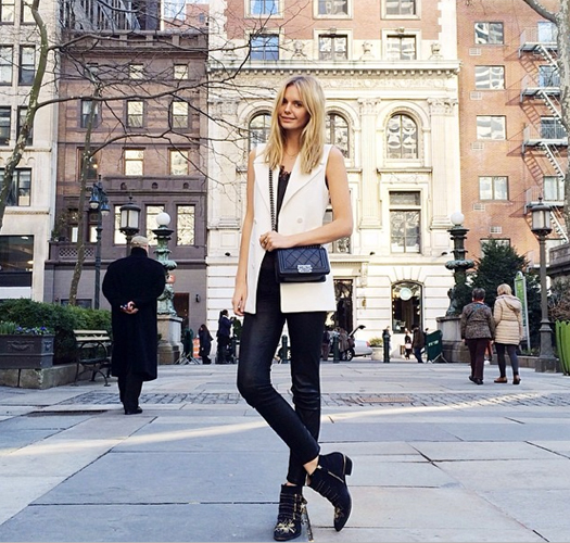 """Finally feels like Spring in NYC"" Image courtesy @tuulavintage"
