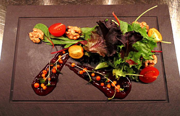 The Pollinator Garden Celebration dish at EPIC Restaurant.