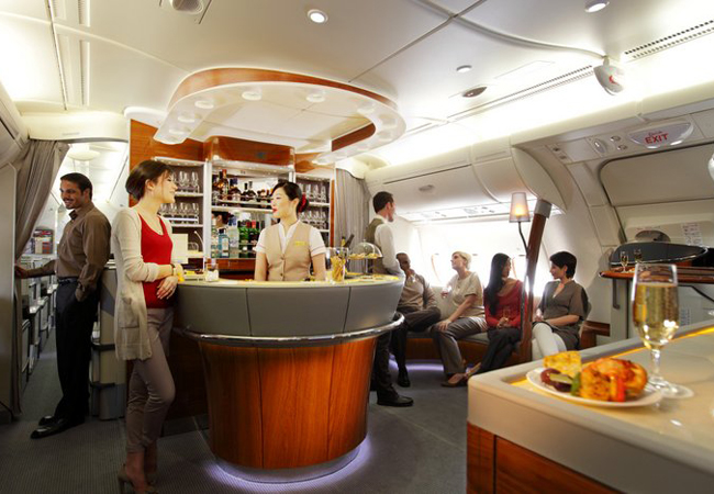 The Onboard Lounge for Business and First Class passengers.