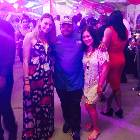 Meeting Roger Mooking at the Food, Rum & Wine Festival.