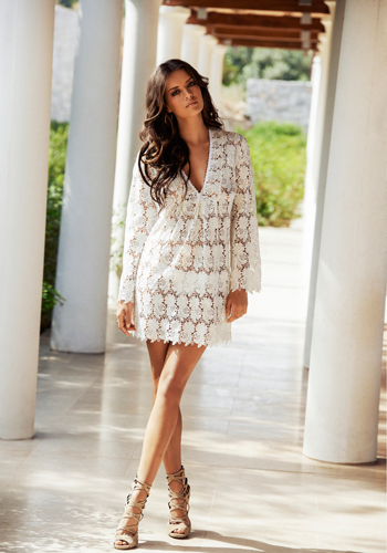 Melissa Odabash Alanna Cream Lace Dress