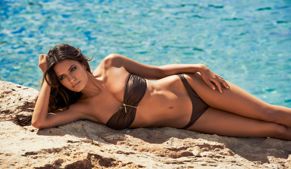 Melissa Odabash Sumatra Zip Bandeau Bikini
