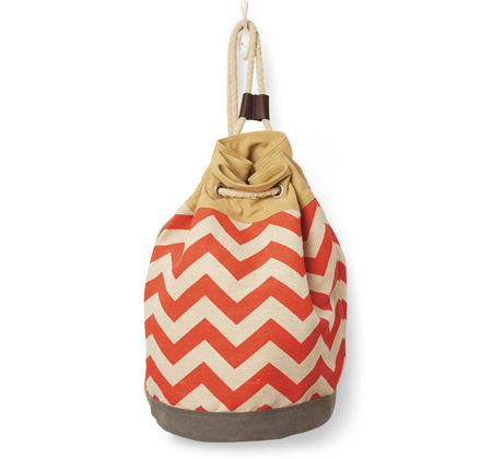 Reef-Chili-Chevron-Canvas-Drawstring