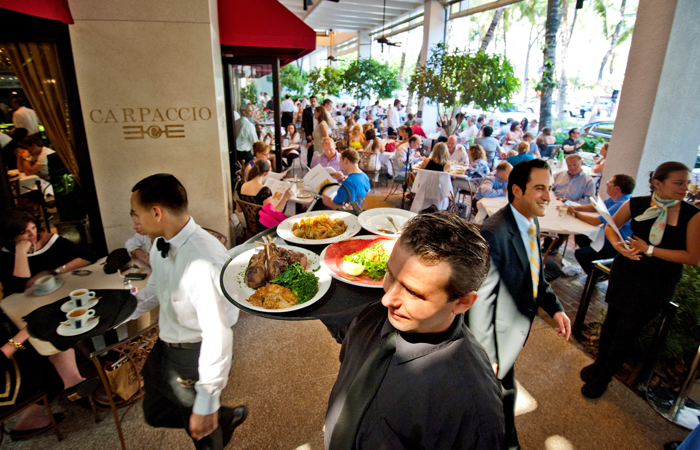 It's always bustling at Carpaccio. Photo courtesy Doug Castanedo,