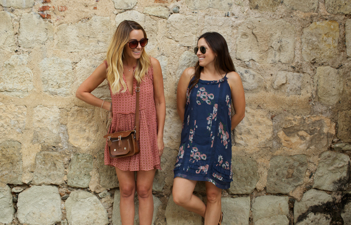 Lauren Conrad and Hannah Skvarla during their travels. Image courtesy Yoni Goldberg.