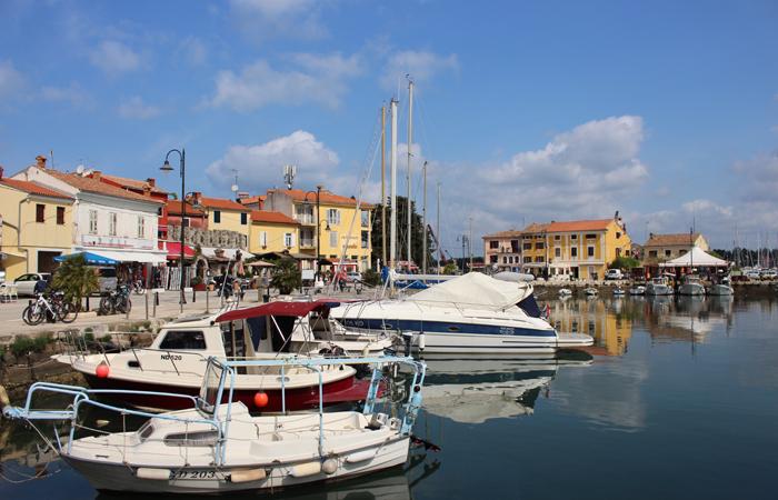 The Novigrad Harbour in Istria.