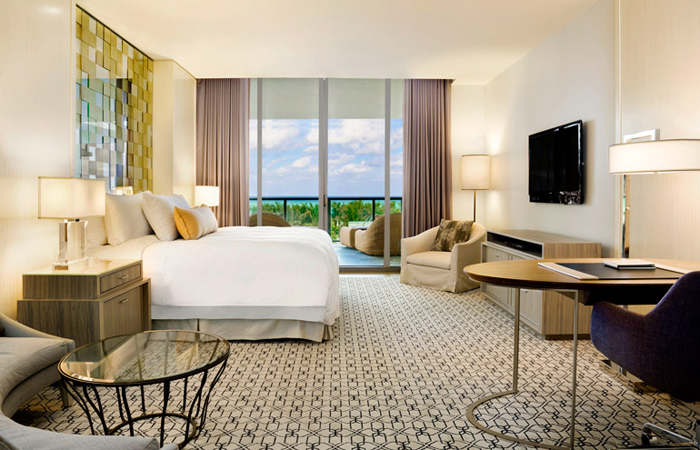 A Deluxe Room at the St. Regis Bal Harbour Resort. All images courtesy St. Regis.