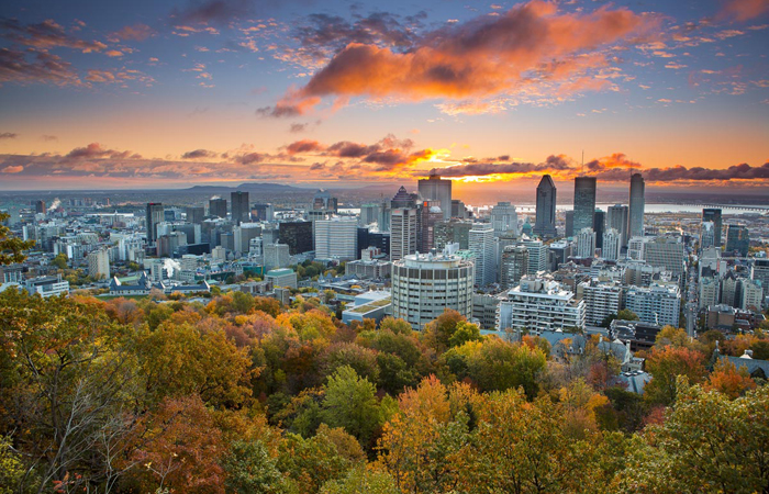 Montreal's skyline. Image courtesy Shutterstock.