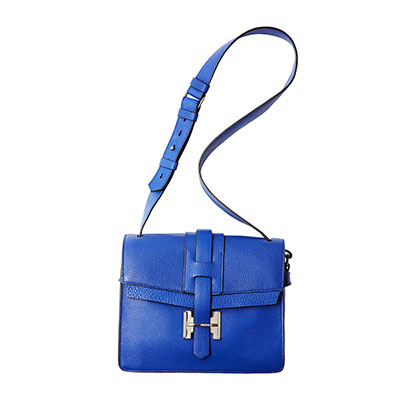 Stop lugging around a big tote. This small bag is perfect for your travels. Designer Leather Satchel, $319.99, marshallscanada.ca.