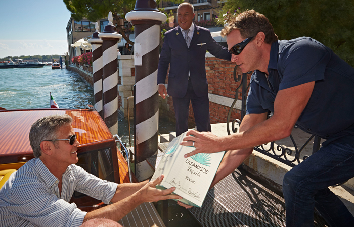 Casamigos Tequila Founders George Clooney & Rande Gerber in Italy. Photo by Tyson Sadlo.