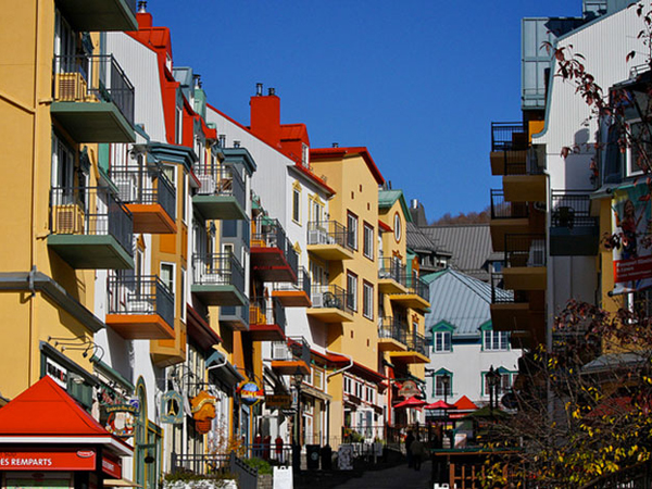The pedestrian village at Mont Tremblant.
