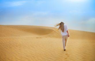 Woman-in-Desert