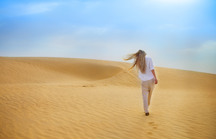 Woman-in-Desert