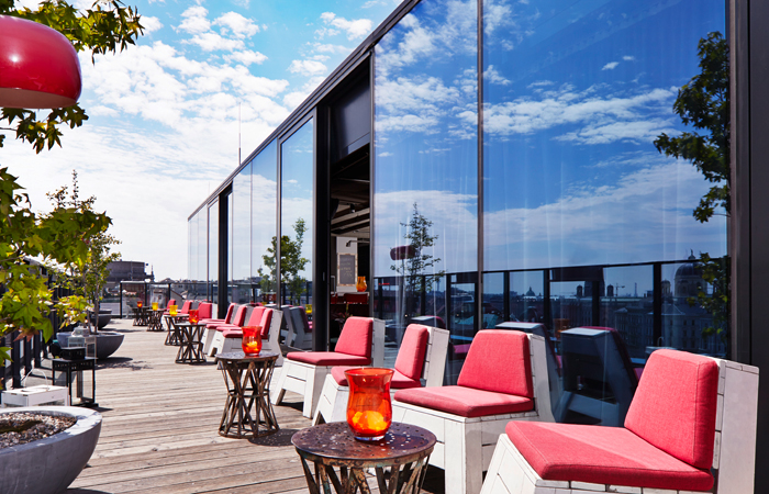 Der Dachboden rooftop terrace. All images courtesy 25hours Hotels.