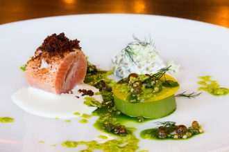 Icelandic Arctic Char. One of the dishes in the prix-fixed menu at Luma.