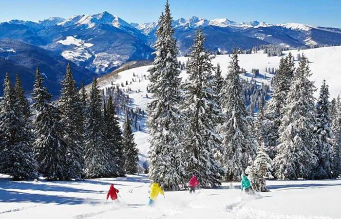 Skiing in Vail, Colorado.