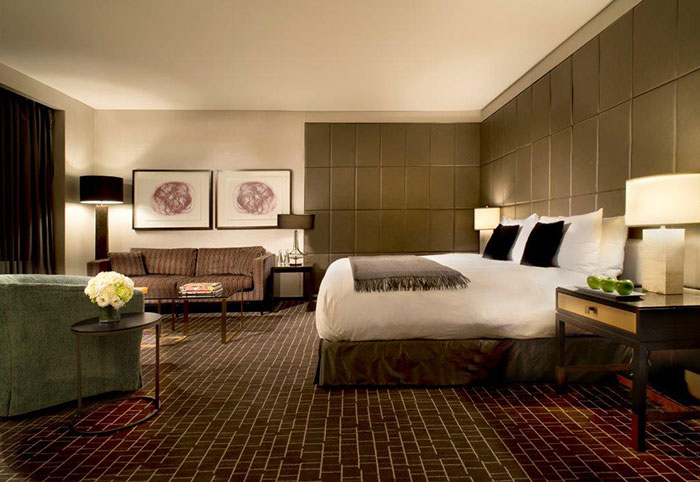 Make sure your room is celebrity-worthy when booking. Photo courtesy of The Hazelton Hotel.