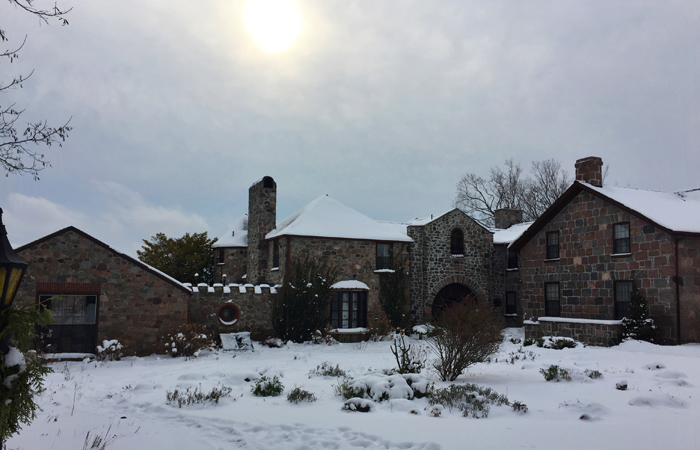 A winter day at Ste. Anne's Spa.