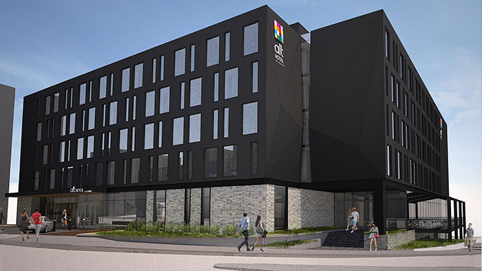 A rendering of the Alt Hotel, St. John's.
