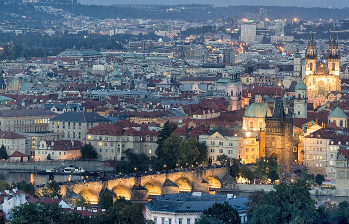 Prague's romantic vibe is the perfect couple getaway.  Photo courtesy of Air Canada rouge.