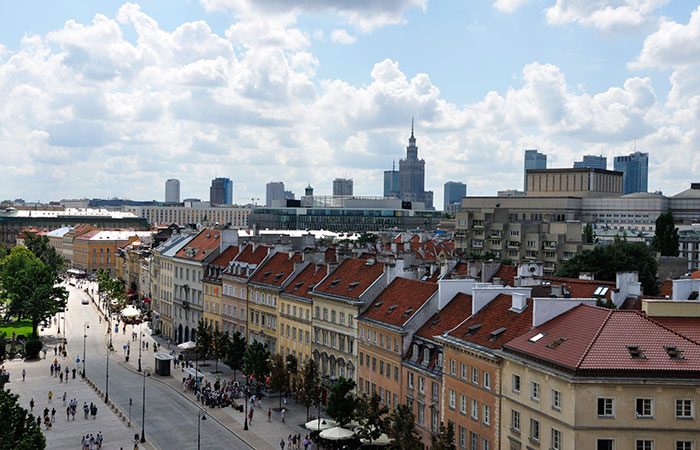 You can now add Warsaw to your bucket list. Photo courtesy of Air Canada rouge.