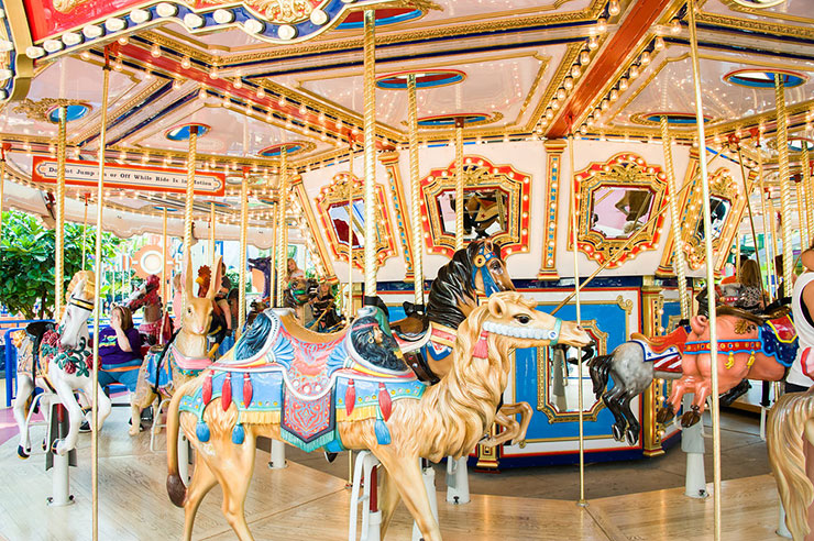 A carousel in the theme park section of the mall would be any girl's (child or adult!) dream.