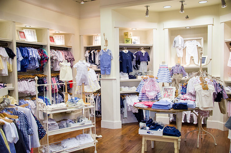 Try not to buy everything inside the adorable store,  Janie & Jack.
