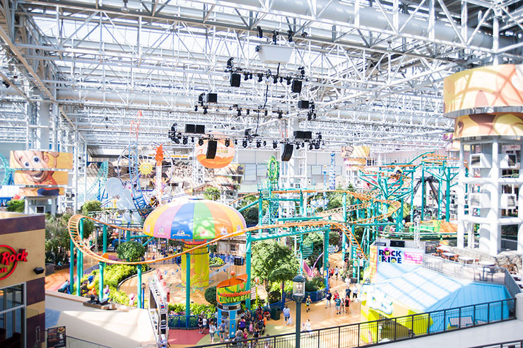 Let the inner kid in you come out as well at the largest indoor theme park in America.