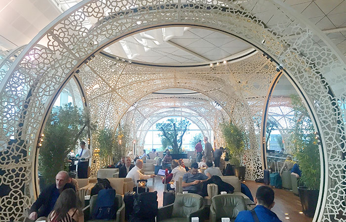 The Turkish Airlines Lounge in Istanbul is the perfect layover spot.