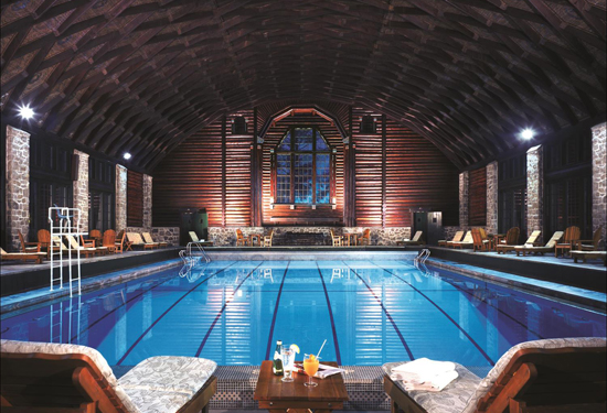 The indoor pool. Image courtesy Fairmont Hotels & Resorts.