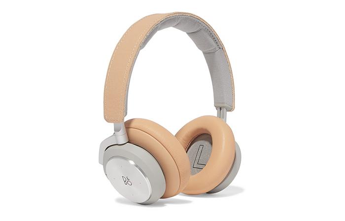 Jet lag: Bang & Olufsen wireless leather headphones, $500.