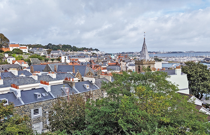 Rooftop views in Guernsey