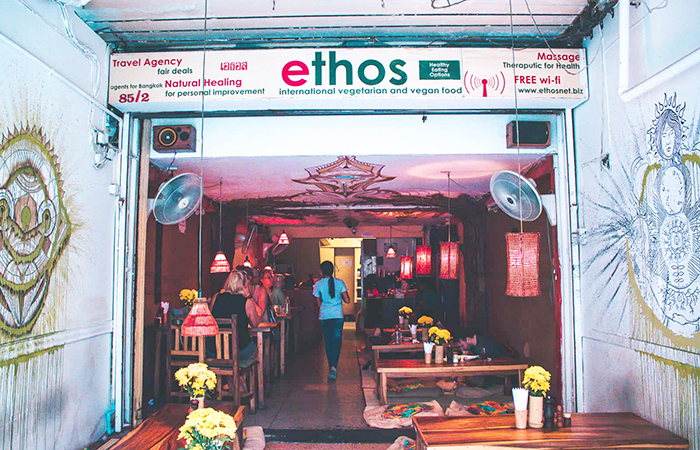Ethos on Khaosan Road in Bangok.