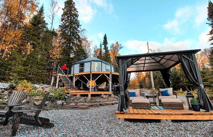 Glamping: Rossport Yurts.