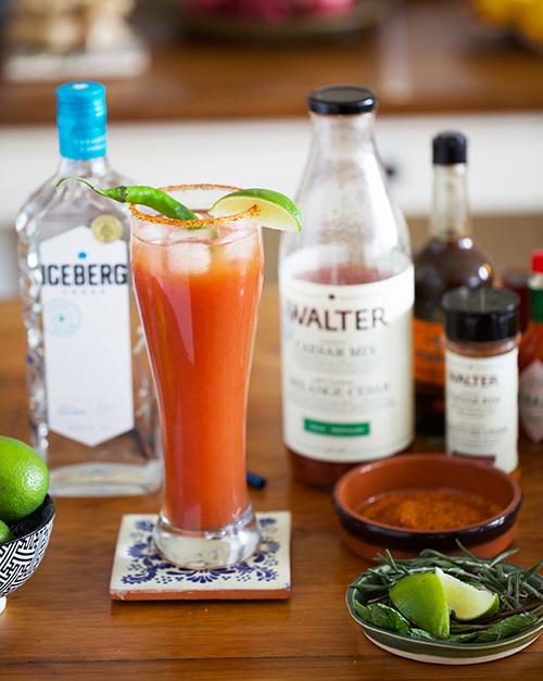 Travel cocktails: Iceberg Vodka Caesar