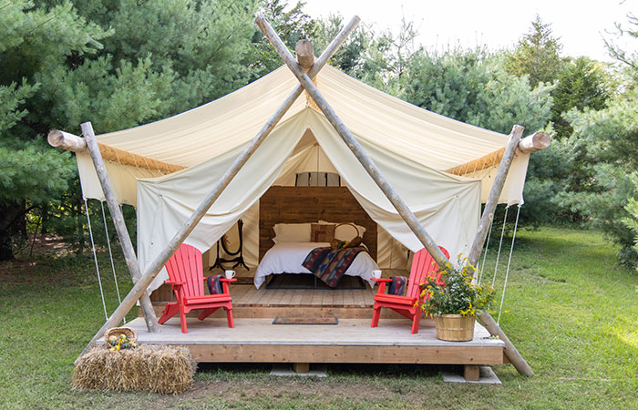 Norfolk County: Glamping at Homegrown Hideaway. Photo courtesy of Julia Matthews