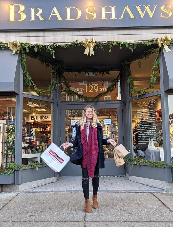 Shopping Stratford's Christmas Trail.