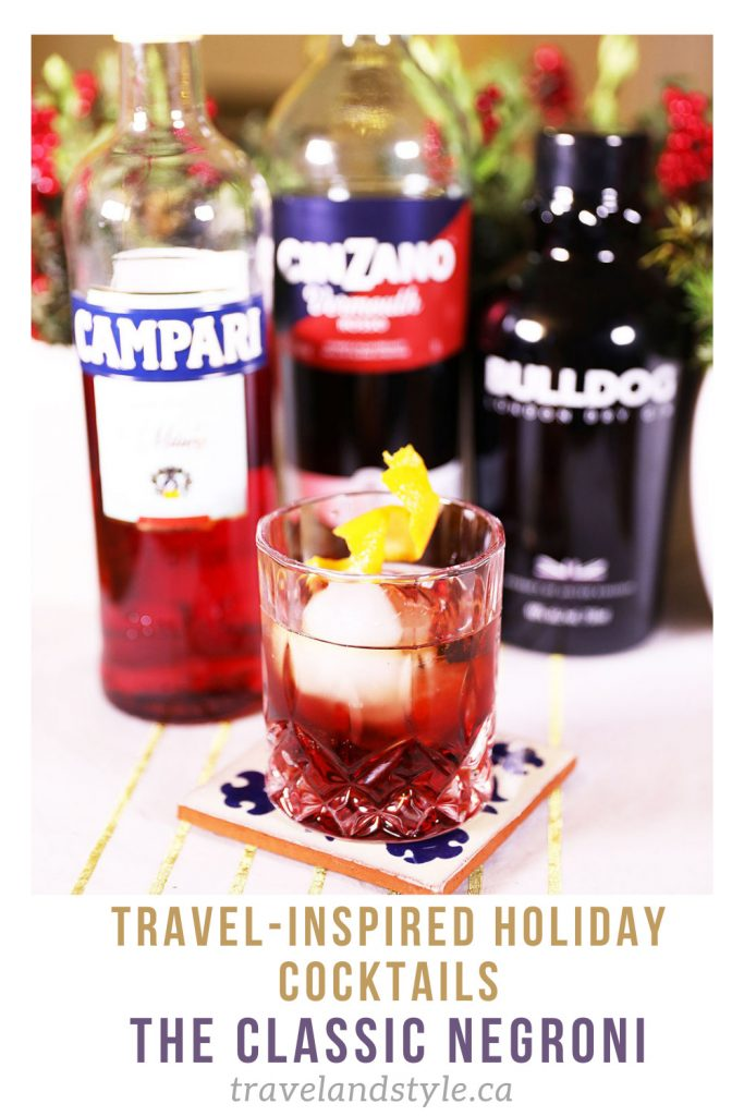 Travel-inspired holiday cocktails: The classic Negroni